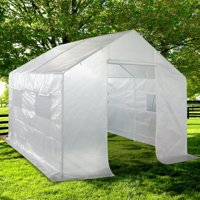 Quictent - 10' X 9' X 8' - White -Large Portable Walk-In Greenhouse w/ Stakes