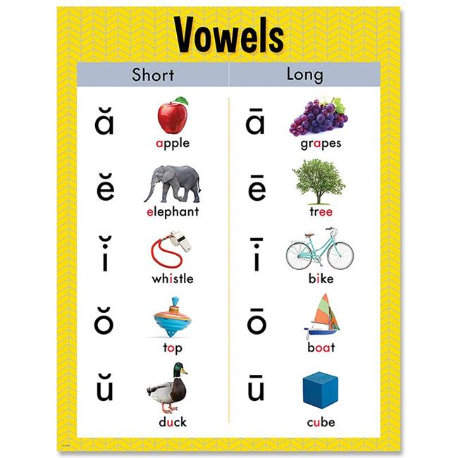 Creative Teaching Press CTP8617 17 x 22 in. Vowels Chart