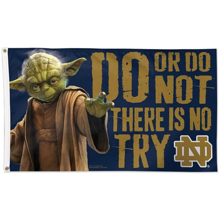 Notre Dame Runner (Notre Dame Fighting Irish Official NCAA 3'x5' Star Wars Yoda Banner Flag by WinCraft )