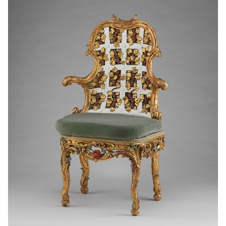 Armchair (one of a pair) (part of a set) Poster Print by Attributed to Johann Michael Bauer (18 x 24)