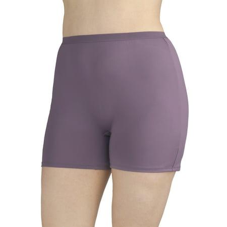 Microfibre Slip (Women's Plus Microfiber Slip Short Panties - 4)