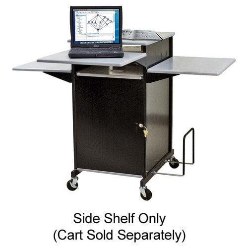Balt Inc 34444 Presentation Cart w/ Optional Shelf 18inx18inx3/4in Gray