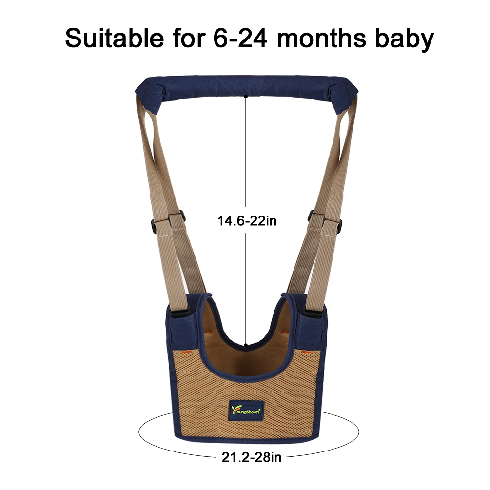 0c41f8d884039 Baby Walker Baby Todder Walking Harness, 3D breathablde Baby Walking  Assistant with Reversiable Shoulder, Strong Adhesive Strap, and Explosion  Protection ...