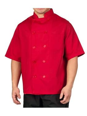 Big Men's Lightweight Short Sleeve Chef Coat
