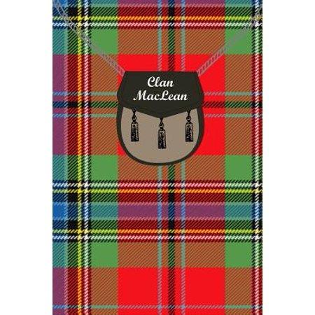Clan MacLean Tartan Journal/Notebook Maclean Duart Tartan