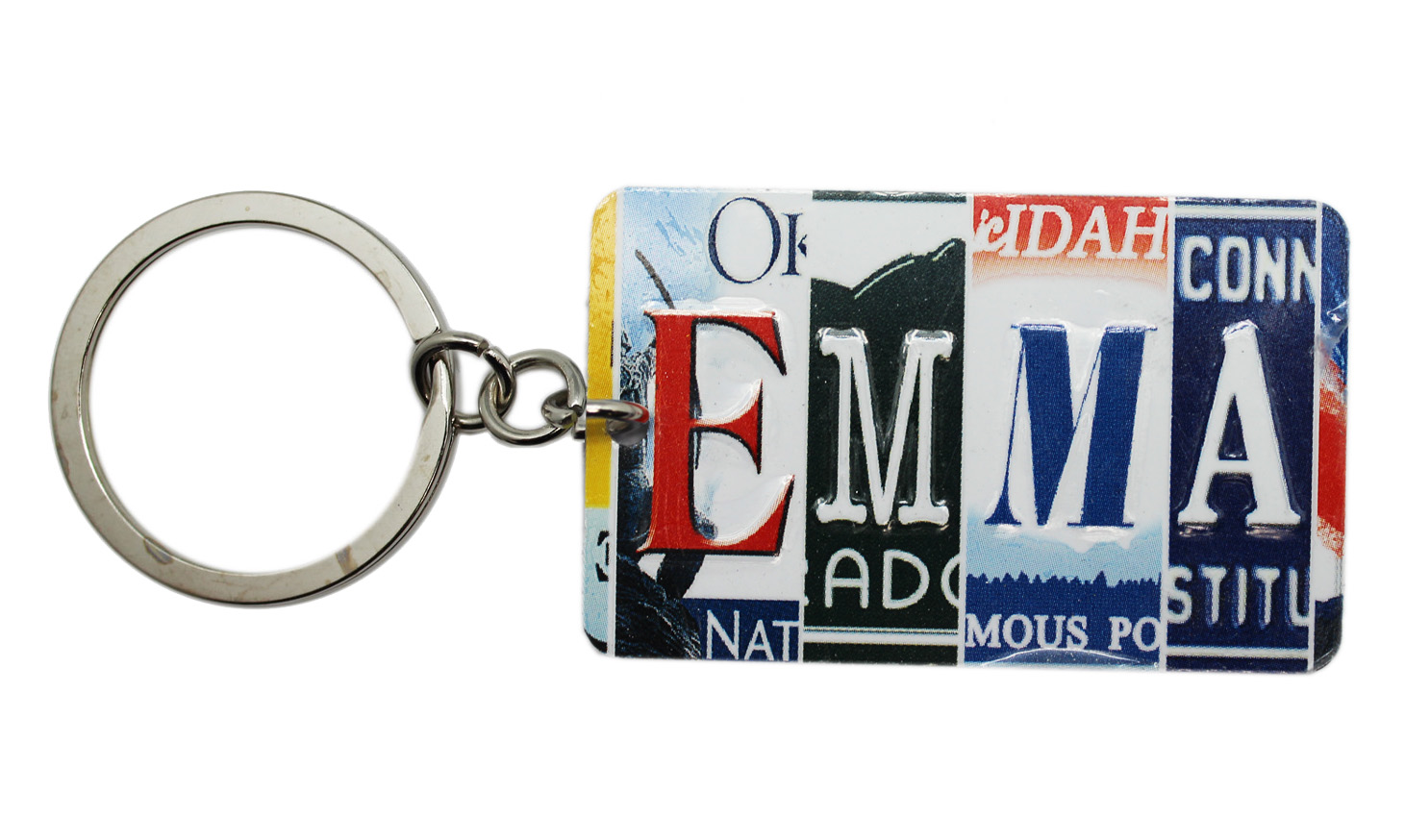 Multi-State License Plate Name Charm Keychain  Emma - By Ganz ... 161748b10634