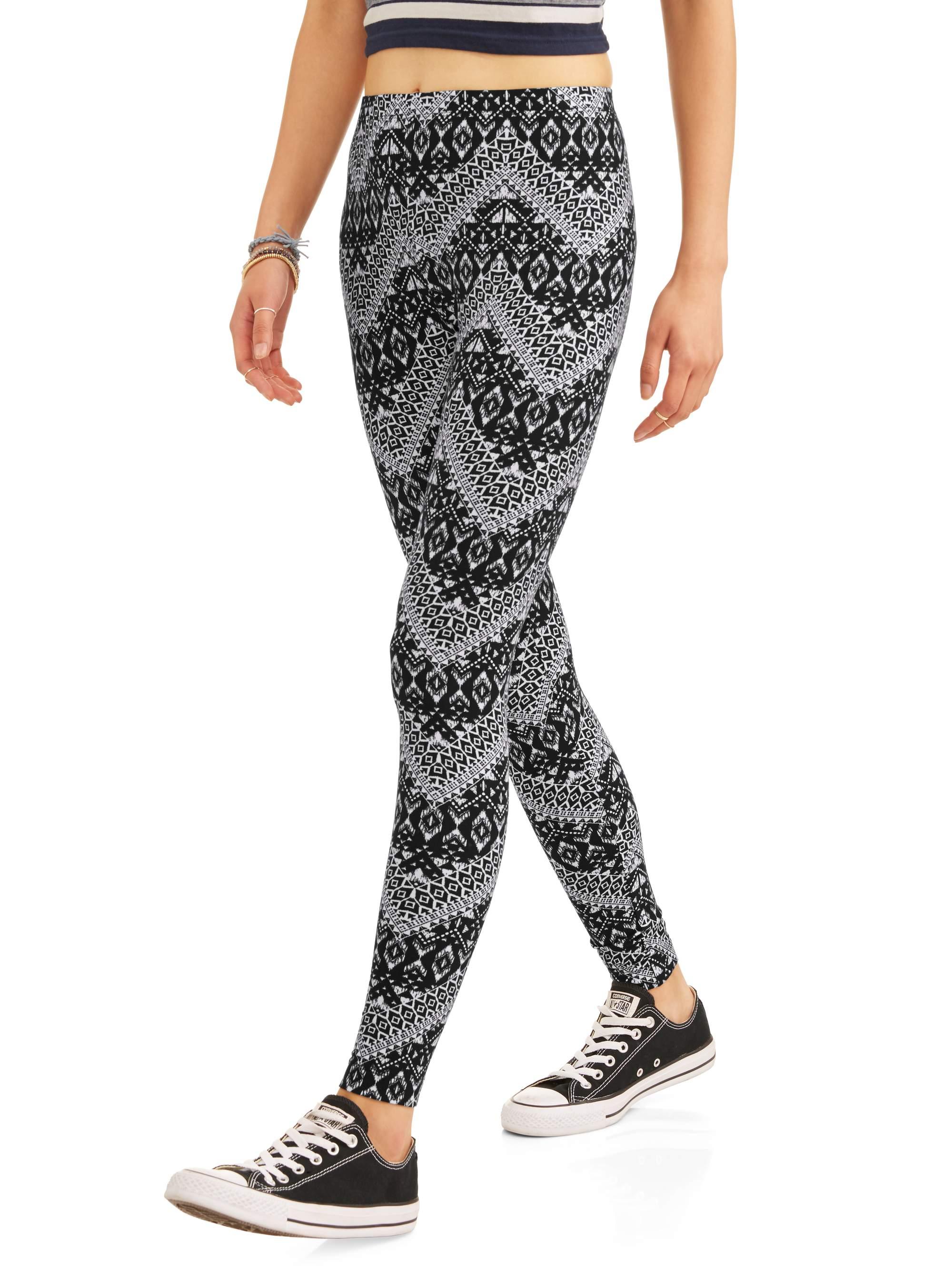 24d67a120c64e2 Juniors' Sueded Jersey Ankle Leggings (Prints & Solids) – Walmart ...