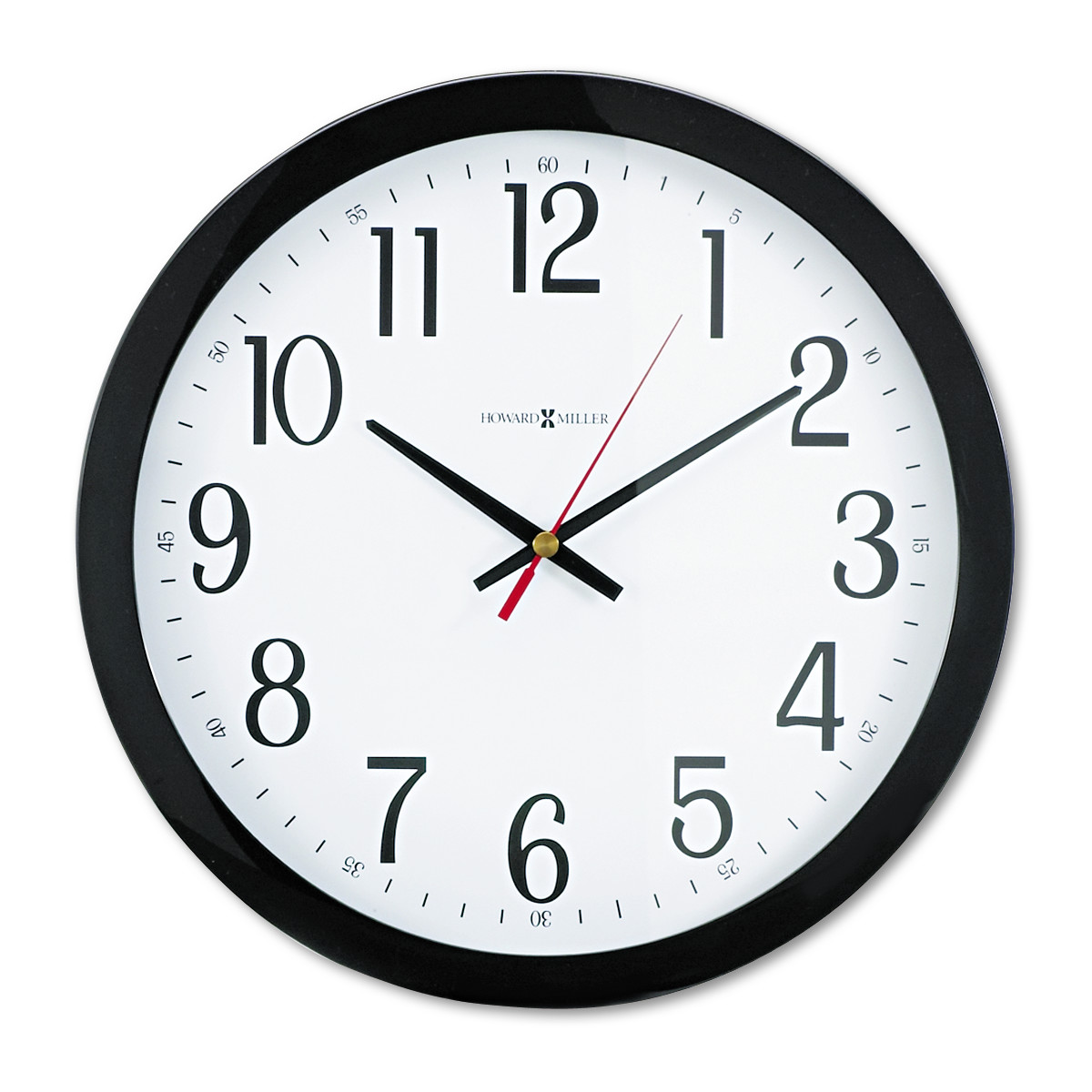 "Howard Miller Gallery Wall Clock, 16"", Black"