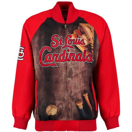 St. Louis Cardinals G-III Sports by Carl Banks Slugger Varsity Full-Zip Jacket - Red - All Time Low Varsity Jacket