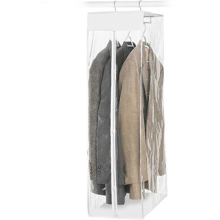 "Whitmor Short Zippered Garment Bag - Closet - 20"" x 12"" x 42"" - White"