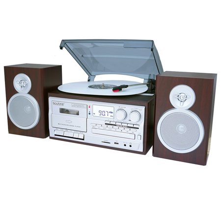 Music System Turntable (28-Series Silver-Mahogany Classic BT Turntable System)