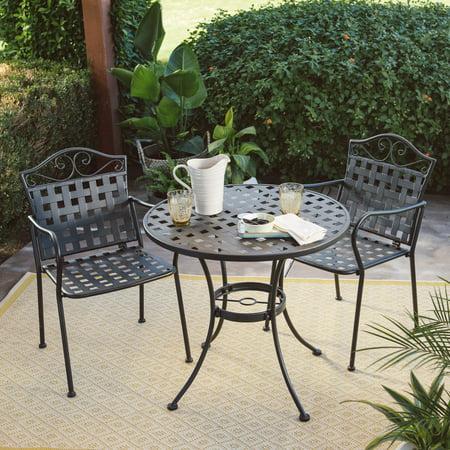 Belham Living Capri Wrought Iron Outdoor Bistro Set by