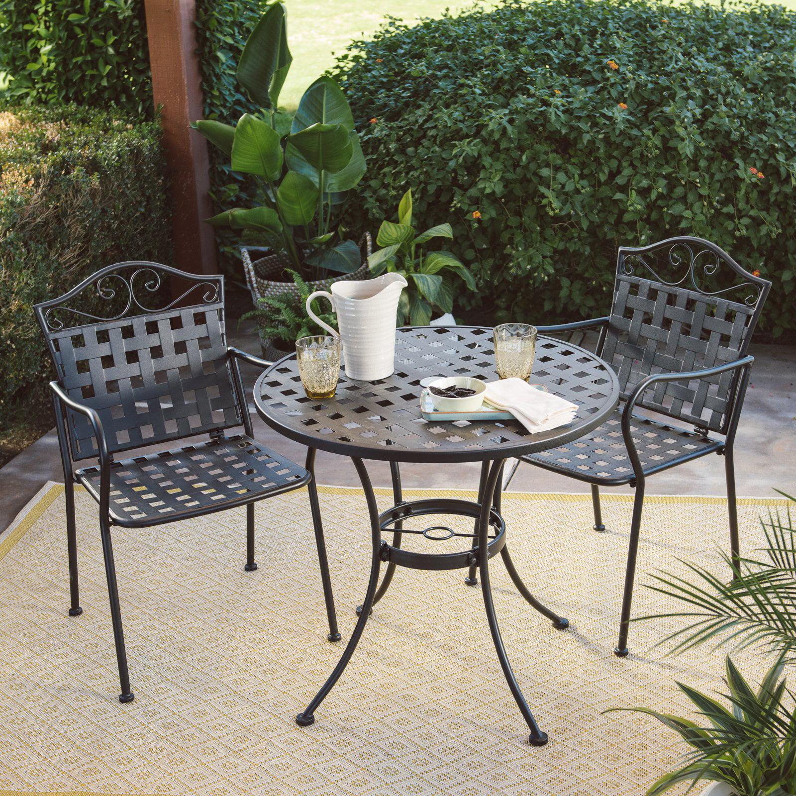 Belham Living Capri Wrought Iron Outdoor Bistro Set by Woodard