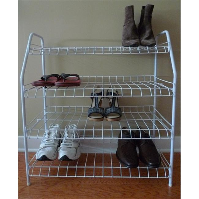 American Trading House NR01-W ATHome Contemporary Shoe Racks- White