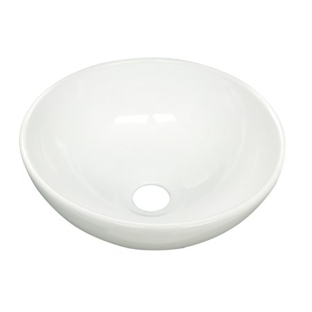 Above Counter Vessel Sink (White Small Vessel Sink Mini Above Counter Round Bathroom Sink 11.25 inches)