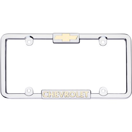 Cruiser Accessories 10037 Chrome Frame With 24K Gold Chevrolet Logo ...