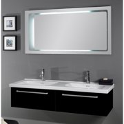 Iotti by Nameeks Fly 57'' Double Bathroom Vanity Set with Mirror
