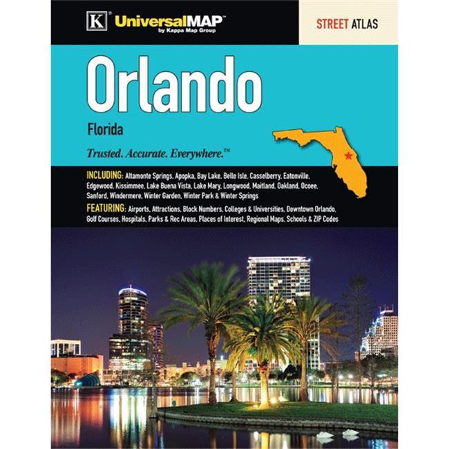 Orlando Florida Zip Code Map.Universal Map 11620 Orlando Metro Fl Atlas