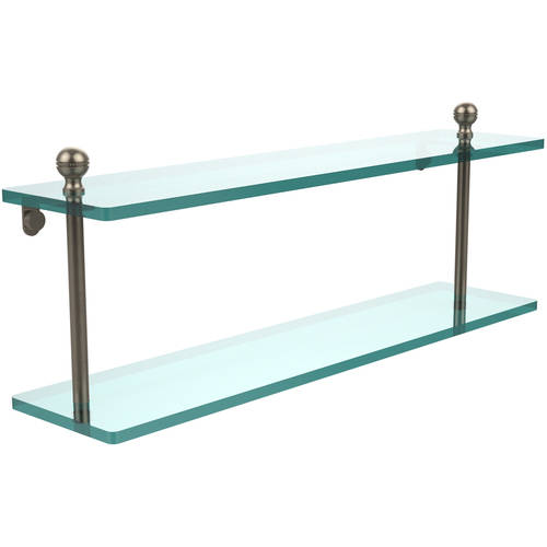 "Mambo Collection 22"" 2-Tiered Glass Shelf (Build to Order)"