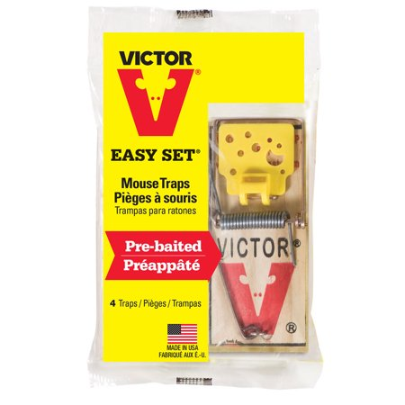 Victor 4-Pack Easy Set Mouse Trap