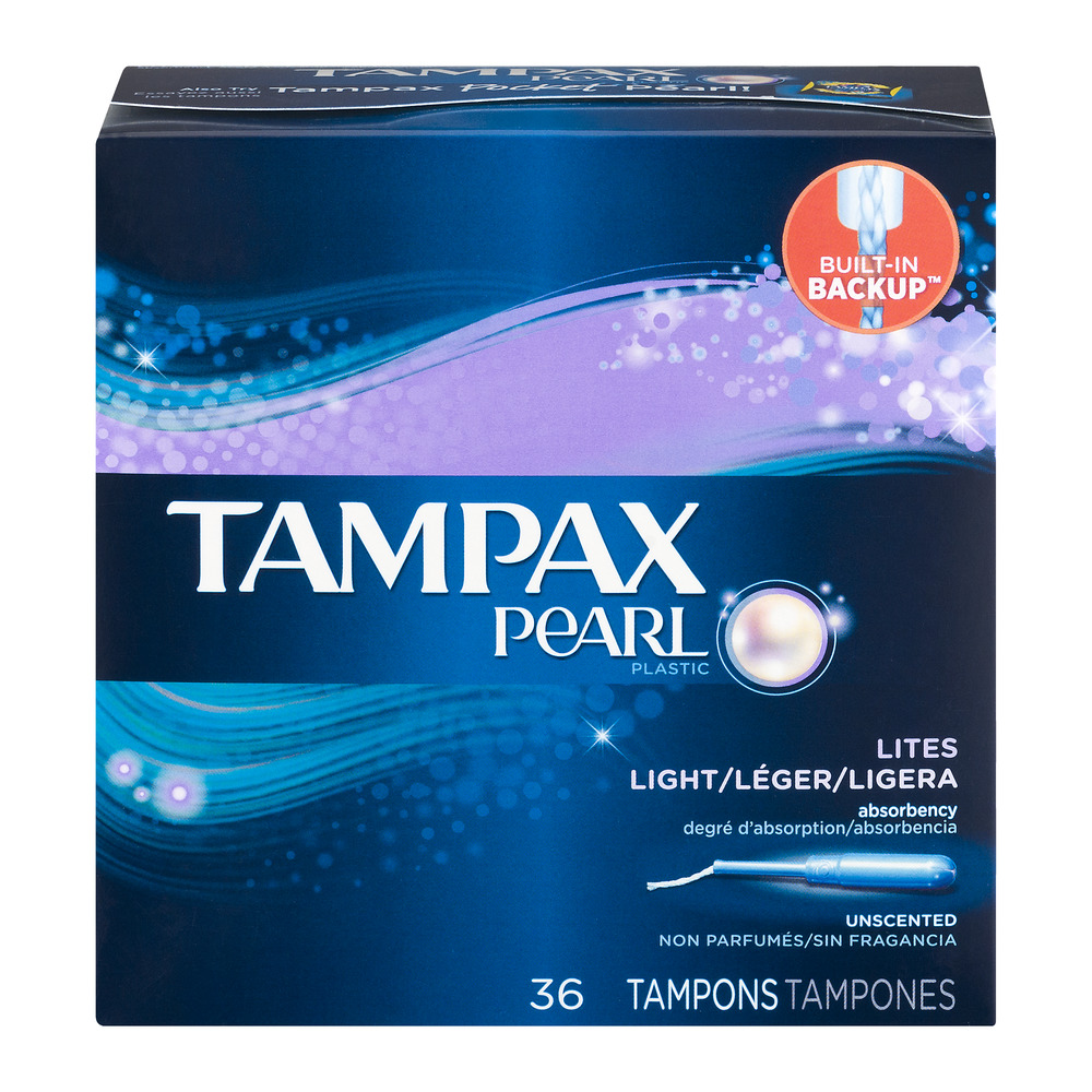 Tampax Pearl Tampons Lites Unscented - 36 CT