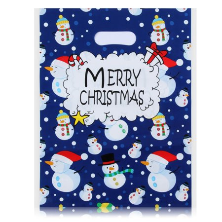 Christmas Holiday Gift Bags Christmas Snowman Prints for Party Favors Goody Bags Xmas Presents Classrooms and Wrapping Stocking Stuffers ()