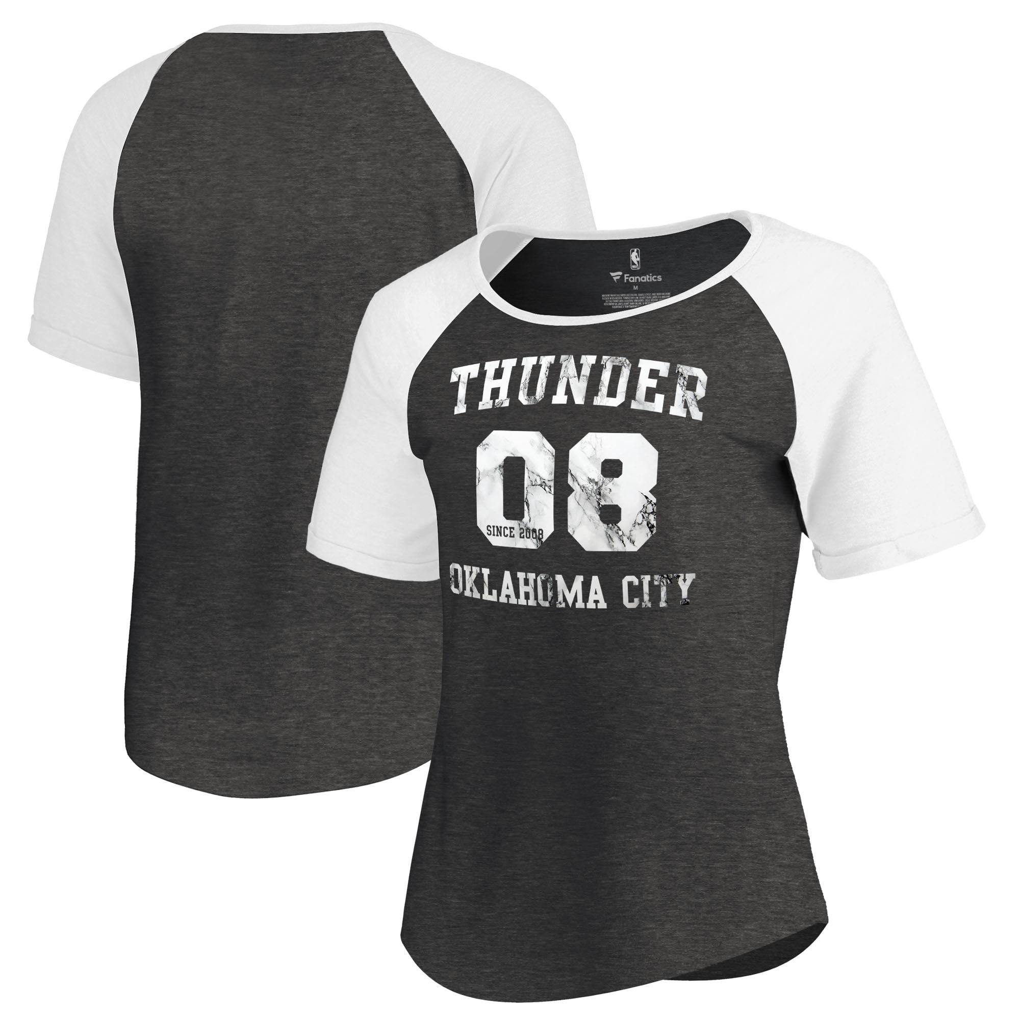 Oklahoma City Thunder Fanatics Branded Women's Hang Time Short Sleeve Raglan T-Shirt - Black