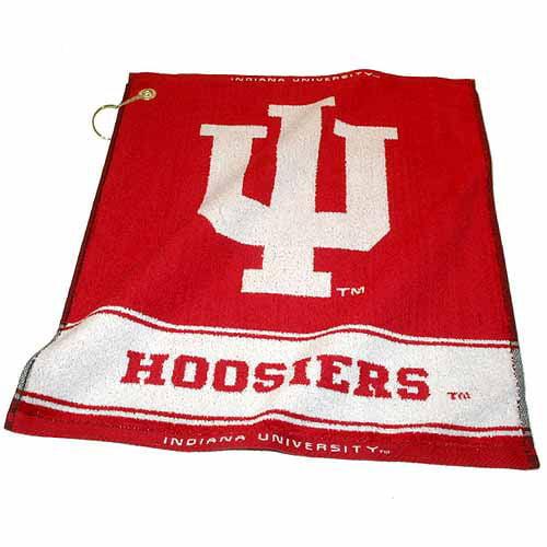 Team Golf NCAA Indiana Jacquard Woven Golf Towel