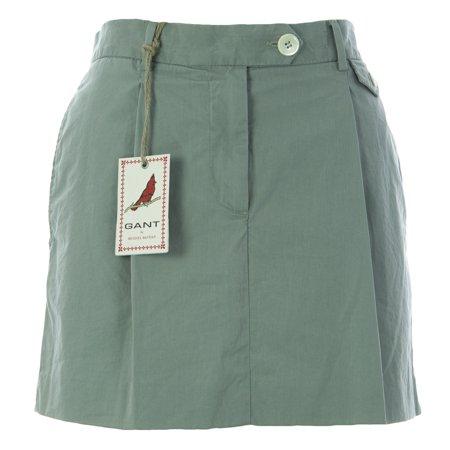 Gant Womens Cotton Chino Skirt Eu 38 Whale Grey