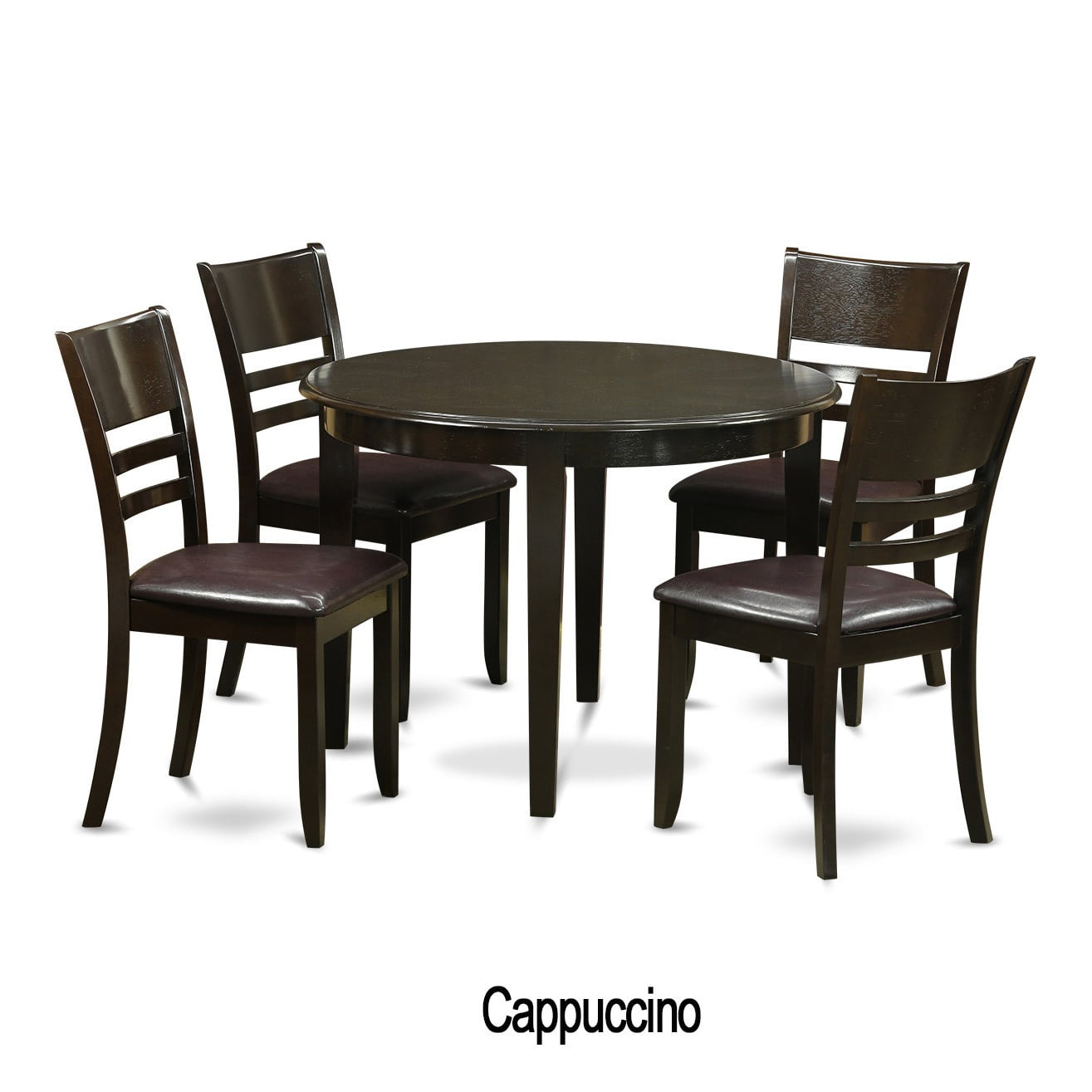 East West Furniture 5-piece Small Kitchen Dining Nook and 4 Kitchen Chairs by Overstock