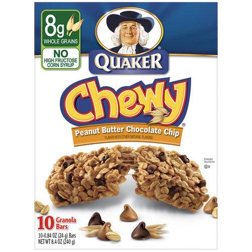 Quaker Chewy Peanut Butter Chocolate Chip Granola Bars, 8.4 oz
