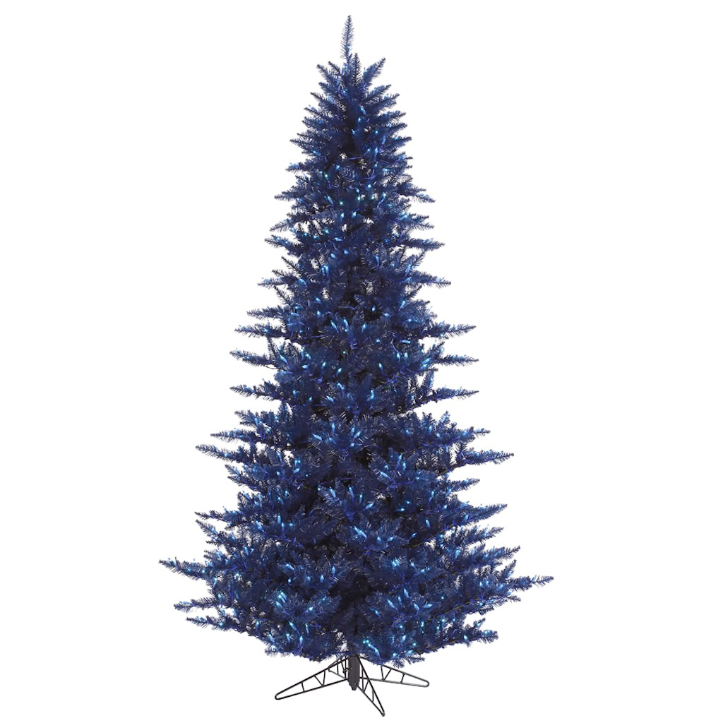 "Vickerman 28170 - 12' x 82"" Dark Blue Fir 1,650 Blue Lights Christmas Tree (K120691)"