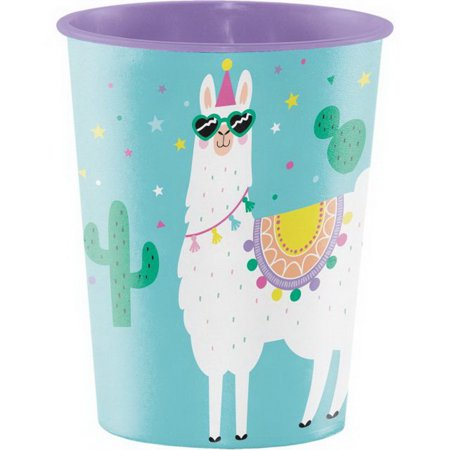 Keepsake Cup (Creative Converting 339589 Llama Party Plastic Keepsake Cup 16 Oz., CASE of)