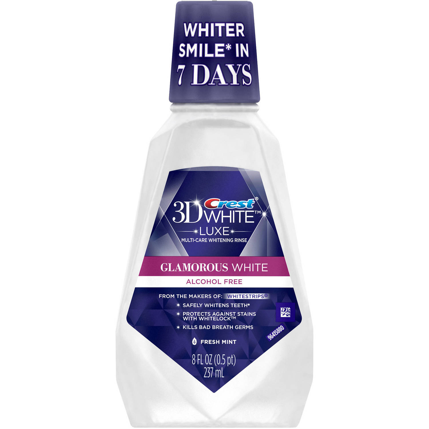 Crest 3D White Multi-Care Rinse, Refreshing Mint, 8 fl oz