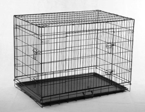 "30"" 2 Door Blue Folding Dog Crate Cage Kennel LC ABS by"