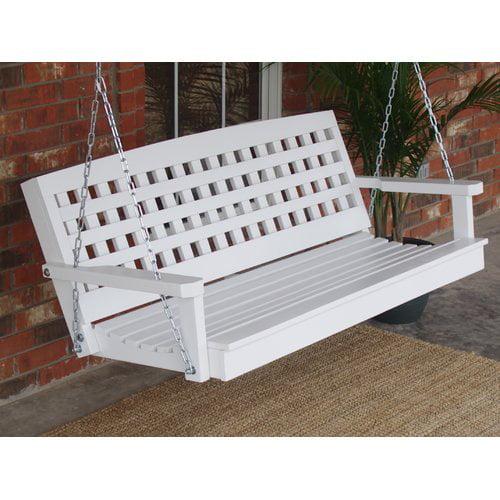 August Grove Petty Lattice Back Style Porch Swing