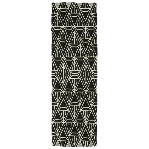 Kaleen Origami Hand-Tufted Black Area Rug