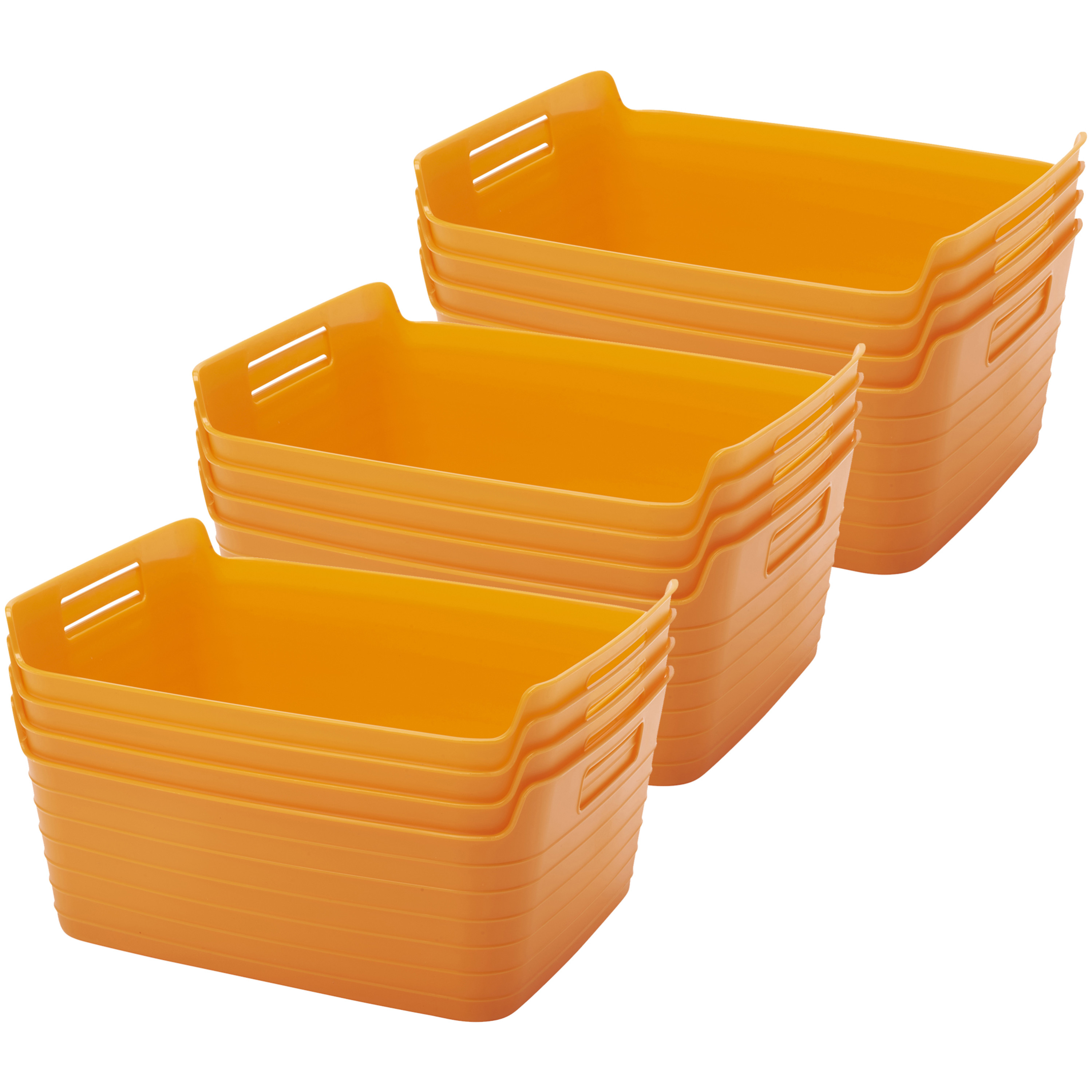 Large Bendi-Bin with Handles - Orange