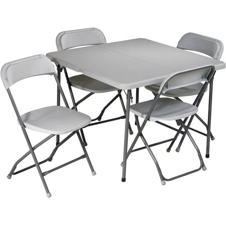 Office Star Work Smart 5 Piece Folding Table and Chair Set
