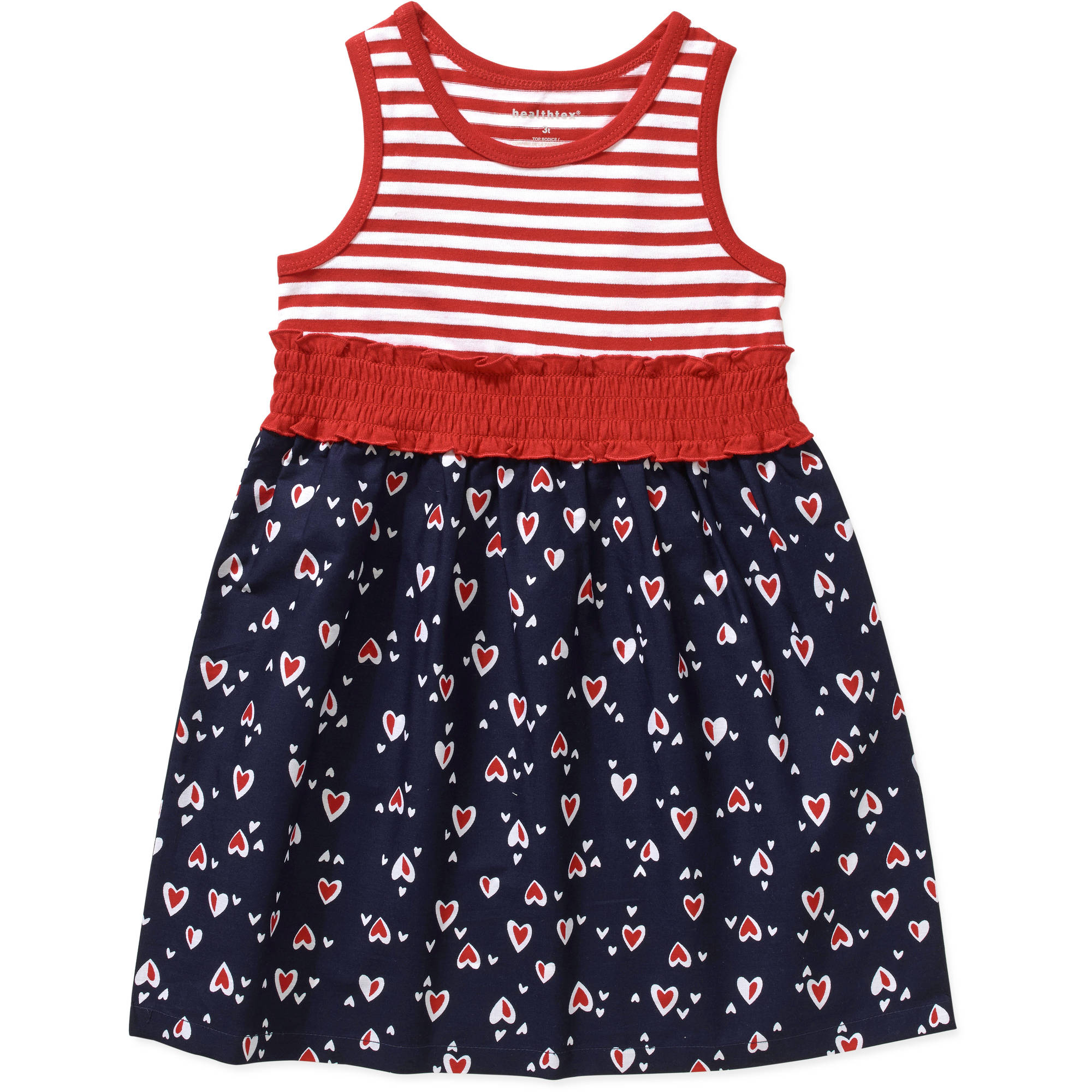 Healthtex Baby Toddler Girl Essential Summer Knit and Woven Dress