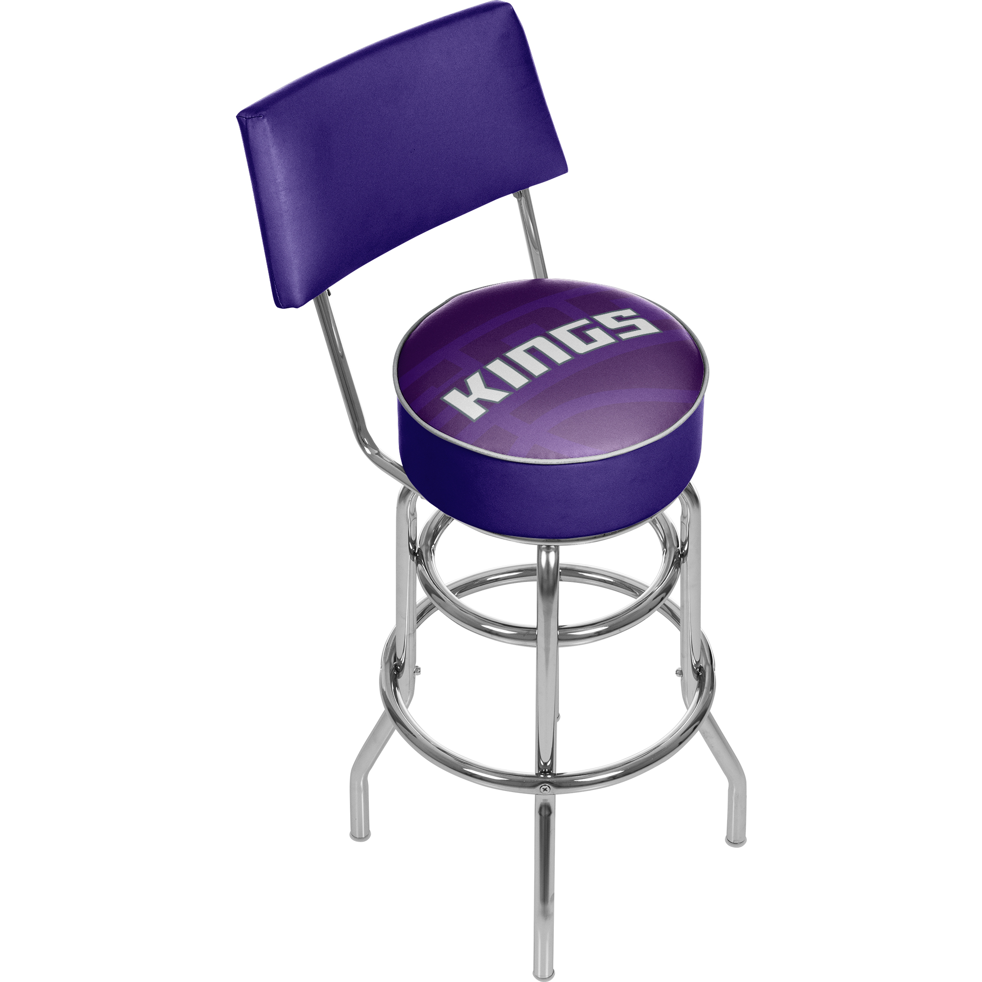 NBA Swivel Bar Stool with Back - Fade - Sacramento Kings