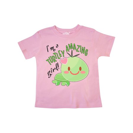 Im a Turtle-ly Amazing Girl- cute turtle Toddler T-Shirt - Girl Turtle