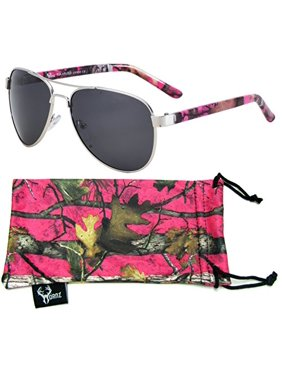 fa4cd4c7024 Product Image Hot Pink Camouflage Polarized Aviator Sunglasses for Women    Free Matching Microfiber Pouch - Small to