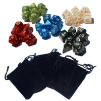 35 Polyhedral Dice | 5 Sets of Dice for Dungeons & Dragons and Other RPG's