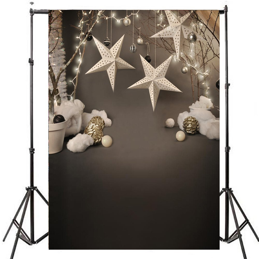 ABPHOTO Polyester 5x7ft Big Photography Background Backdrop Cloth Christmas for Studio Professional Photographer