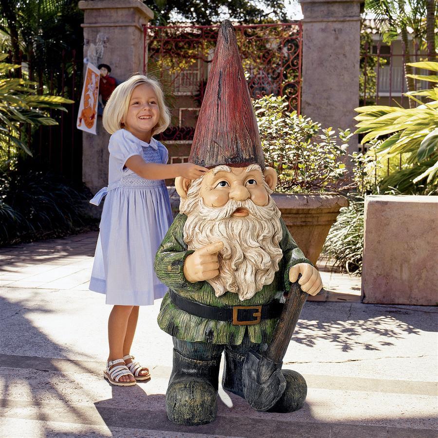 Gottfried, the Gigantic Garden Gnome Statue by Design Toscano