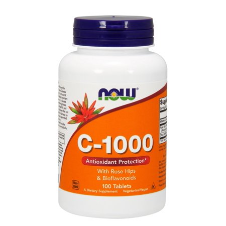 C-1000 With Rose Hips Now Foods 100 Tabs (Rose Hips 50 Tabs)
