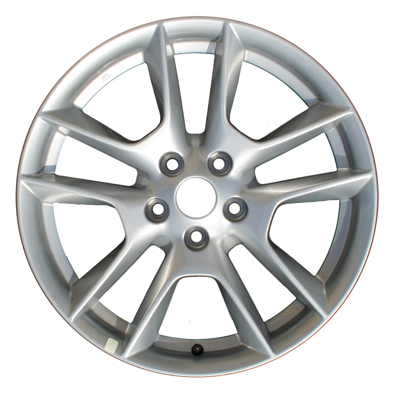 2009-2011 Nissan Maxima  18x8 Aluminum Alloy Wheel, Rim Medium Silver Sparkle Full Face Painted-62511
