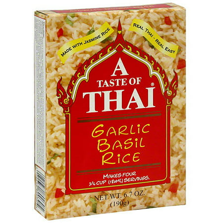 Image of A Taste Of Thai Garlic Basil Coconut Rice, 6.7 oz (Pack of 6)