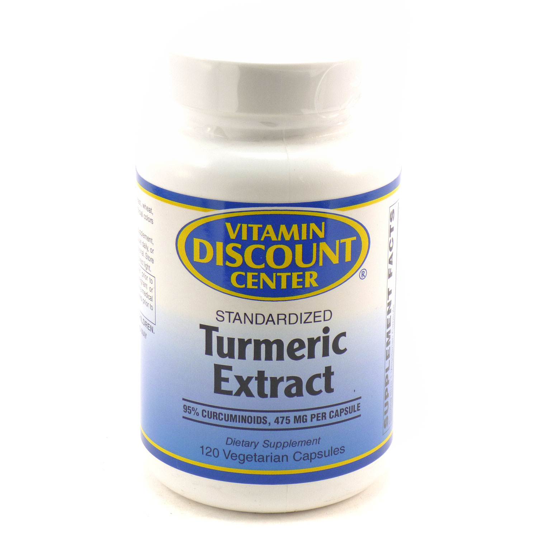 Tumeric Extract by Vitamin Discount Center - 120 Capsules Curcumin C3 Complex